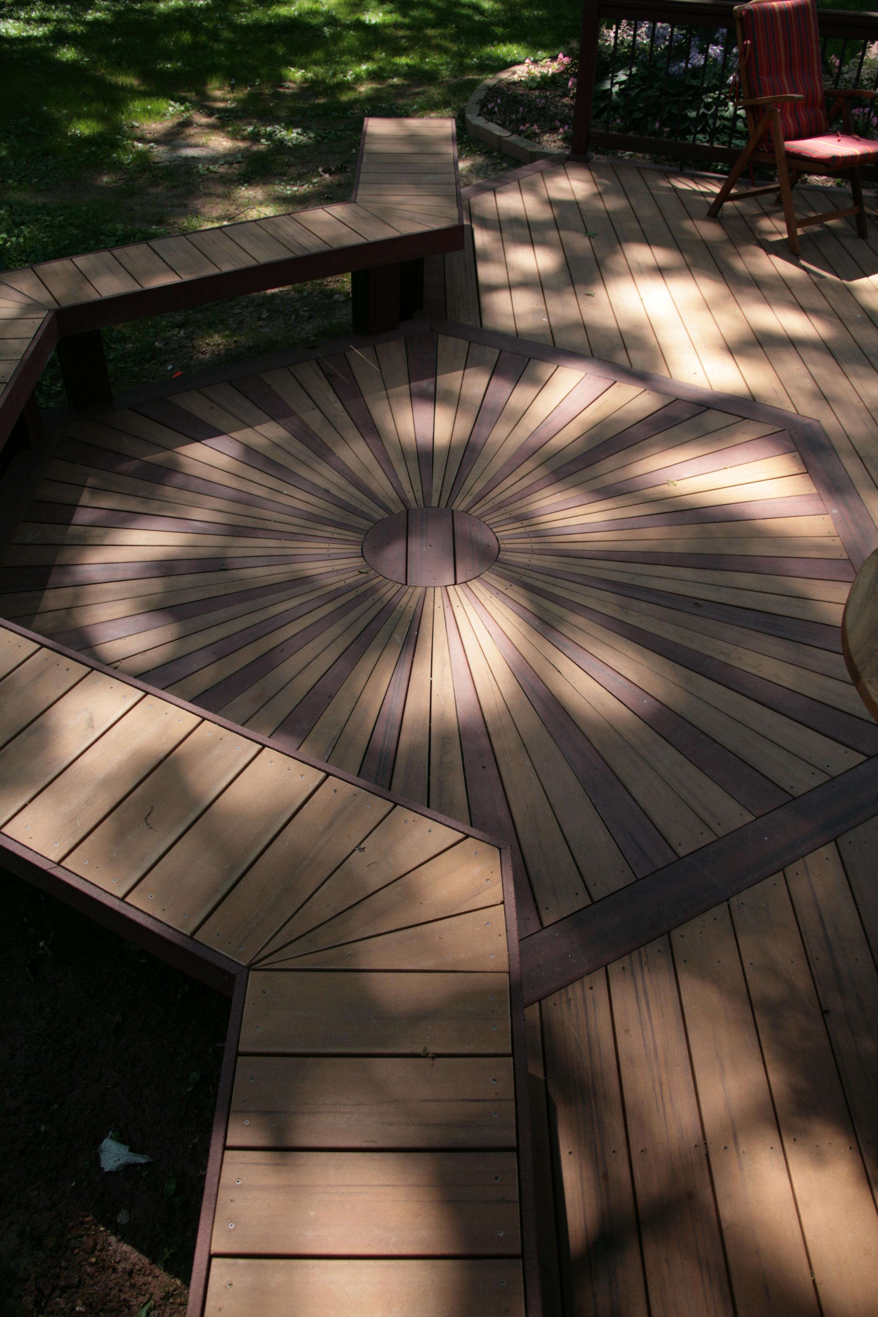 Sunburst Decking layout
